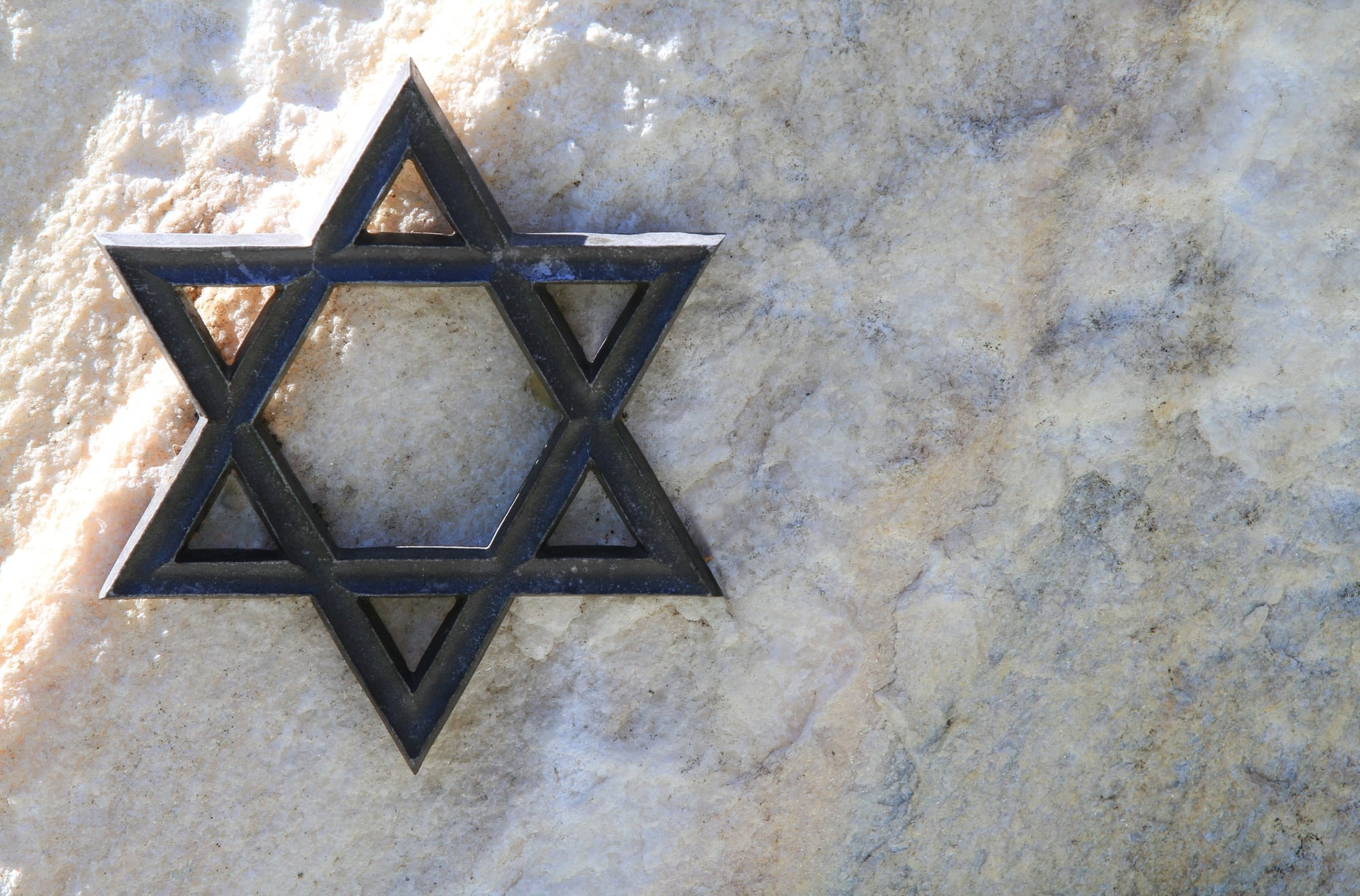 Jewish star in metal