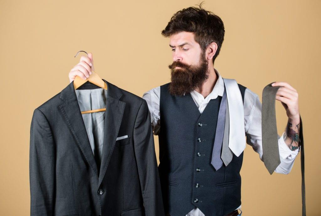 Man needing help from a personal virtual stylist